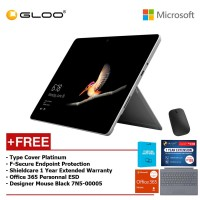 Surface Go Y/8GB 128GB + Surface Go Type Cover Platinum + Shieldcare 1 Year Extended Warranty 1 Year Extended Warranty + F-Secure Anti Virus + Office 365 Personal (ESD) + Designer Mse