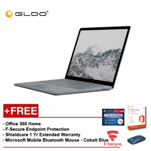 Surface Laptop i7/8GB 256GB + F secure + 1 Yr ext Warranty + Office 365 Home + Mobile Bluetooth  Mouse Cobalt Blue