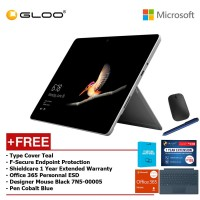 Surface Go Y/8GB 128GB + Surface Go Type Cover Teal + Shieldcare 1 Year Extended Warranty 1 Year Extended Warranty + F-Secure Anti Virus + Office 365 Personal (ESD) + Designer Mse + Pen Teal
