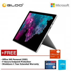 Microsoft Surface Pro 6 Core i5/8GB RAM - 256GB + Office 365 Personal (ESD) + Shieldcare 1 Year Extended Warranty + F-Secure EndPoint Protection