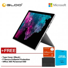 Microsoft Surface Pro 6 Core i7/8GB RAM - 256GB + Type Cover Black + Office 365 Personal (ESD) + F-Secure EndPoint Protection