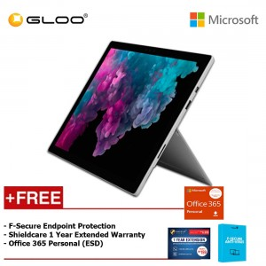 Microsoft Surface Pro 6 Core i7/8GB RAM - 256GB + Office 365 Personal (ESD) + Shieldcare 1 Year Extended Warranty + F-Secure EndPoint Protection