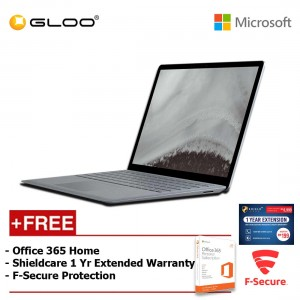 Microsoft Surface Laptop 2 Core i5/8GB RAM - 128GB + 365 Home + Fsecure + 1Yr Ext Wty