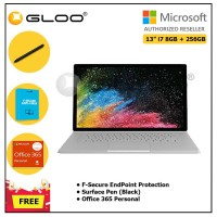 """Surface Book 2 13"""" i7/8GB 256GB + F-Secure EndPoint Protection + Office 365 Personal ESD + Pen Black"""