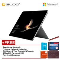 Surface Go Y/8GB 128GB + Surface Go Type Cover Burgundy + Shieldcare 1 Year Extended Warranty 1 Year Extended Warranty + F-Secure Anti Virus + Office 365 Personal (ESD) + Pen Burgundy