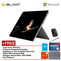 Surface Go Y/8GB 128GB + Surface Go Type Cover Platinum + Shieldcare 1 Year Extended Warranty 1 Year Extended Warranty + F-Secure Anti Virus + Office 365 Personal (ESD) + Designer Mse + Pen Platinum