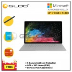 """Microsoft Office Book 2 13"""" i7/16GB 512GB + F-Secure EndPoint Protection + Office 365 Home ESD + Pen Cobalt Blue"""