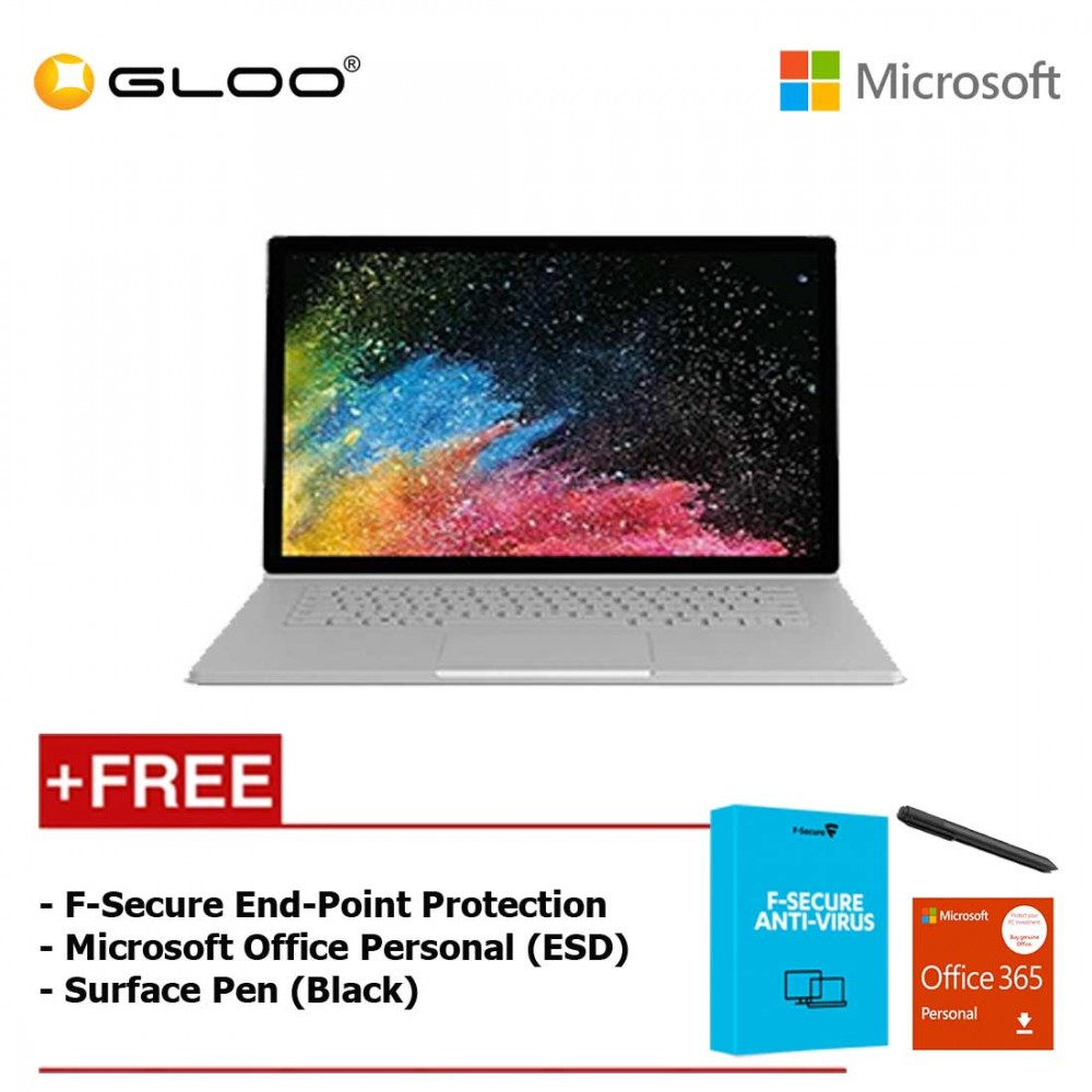 """Surface Book 2 15"""" Core i7/8GB RAM - 256GB [FREE F-Secure End Point Protection + Off 365 Personal + Microsoft Surface Pen Black]"""