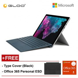 New Microsoft Surface Pro 6 Core i5/8GB RAM - 128GB + Type Cover Black + Office 365 Personal
