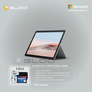 Microsoft Surface Go 2 4425Y/8GB 128GB + Surface Go Type Cover Black + Shield Care 1 Year Extended Warranty + Bitdenfender 1 Year Internet Security + Pen Black + Amazingthing Screen Protector