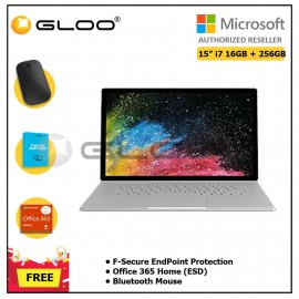 Microsoft Surface Book 2 15-Inches i7/16GB 256GB + F-Secure EndPoint Protection + Office 365 Home ESD + Bluetooth Mouse