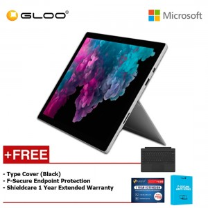 Microsoft Surface Pro 6 Core i5/8GB RAM - 256GB + Type Cover Black + Shieldcare 1 Year Extended Warranty + F-Secure EndPoint Protection