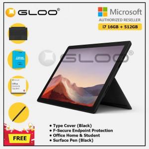 [Pre-order, ETA 9.12] Microsoft Surface Pro 7 Core i7/16G RAM - 512GB Black - VAT-00025 + Surface Pro Type Cover Black + F-Secure 1 Year + Office Home & Student (ESD) + Surface Pen Black