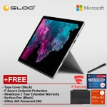 Microsoft Surface Pro 6 Core i5/8GB RAM - 256GB + Type Cover Black + Shield Care 1 Year Extended Warranty + F-Secure End Point Protection + Office 365 Personal (ESD) + Pen Black