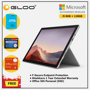 Microsoft Surface Pro 7 Core i5/8G RAM - 128GB Platinum - VDV-00012 + Shield Care 1 Year + F-Secure 1 Year + Office 365 Personal (ESD)