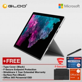 Microsoft Surface Pro 6 Core i7/16GB RAM - 512GB + Type Cover Black + Shield Care 1 Year Extended Warranty + F-Secure End Point Protection + Pen Black + Office 365 Personal (ESD)