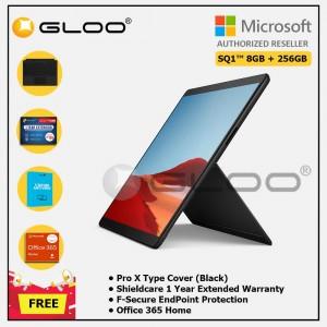 Microsoft Surface Pro X SQ1™/8GB RAM -256GB LTE Black + Pro X TC Black + Shield Care 1 Year + F-Secure 1 Year + 365 H (ESD)