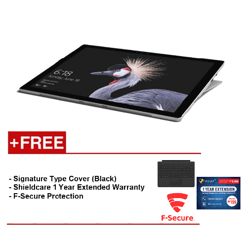 NEW Microsoft Surface Pro - Core i5 8G/256GB Free Surface Pro Type Cover (Black) + Shieldcare 1 Year Extended Warranty + F-Secure End Point Protection