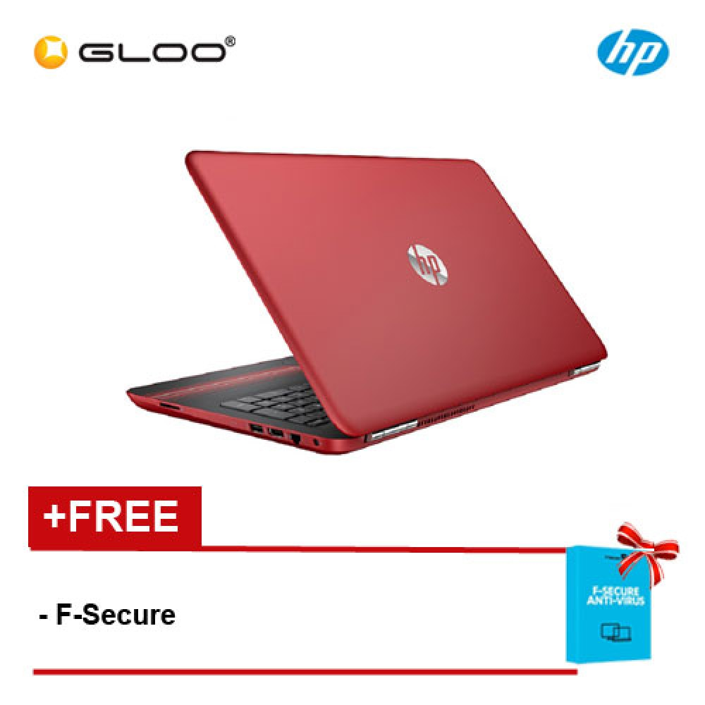 "HP Pavilion 15-au105TX X9K36PA 15.6"" FHD (i7-7500U, 4GB, 1TB, NV 2GB, W10) - Red [FREE F-Secure Client Security Premium License for 1 yr (FCCPSN1NVXAIN)  worth RM147ea]"