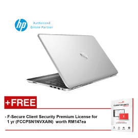 "HP Pavilion 15-au102tx X9K33PA 15.6"" FHD (i5-7200U, 4GB, 1TB, NV 2GB, W10) - Silver [FREE F-Secure Client Security Premium License for 1 yr (FCCPSN1NVXAIN)  worth RM147ea]"