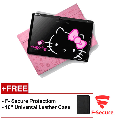 """(REFURBISHED) WMP Grace 10 Light Tablet (Hello Kitty Edition) [FREE 10"""" Universal Leather Case + F-Secure Client Security Premium Licence 1 Year]"""