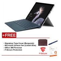 NEWMicrosoftSurfacePro-Corei716G/512GBFreeSurfaceProTypeCover(Burgundy)+Office365Personal+F-SecureEndPointProtection+Microsoft Surface Pen (Cobalt Blue)