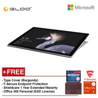 NEW Microsoft Surface Pro - Core i5 8G/256GB Free Surface Pro Type Cover (Burgundy) + Shieldcare 1 Year Extended Warranty + F-Secure EndPoint Protection + Office 365 Home