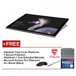 NEW Microsoft Surface Pro-Core i5 8G/256GB Free Surface Pro Type Cover (Platinum) + Shieldcare 1Year Extended Warranty + F-Secure End Point Protection + Arc Mouse (Black) + Microsoft Surface Pen (Platinum)