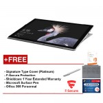 Microsoft Surface Pro- Corei5 8G/256GB Free Surface Pro Type Cover (Platinum) + Shieldcare 1Year Extended Warranty + F-Secure End Point Protection + Office 365 Personal + Microsoft Surface Pen (Platinum)