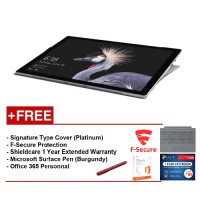 NEW Microsoft Surface Pro-Core i5 8G/256GB Free Surface Pro Type Cover (Platinum) + Shieldcare 1 Year Extended Warranty + F-Secure End Point Protection + Office 365 Personal + Microsoft Surface Pen (Burgundy)