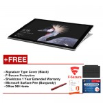 NEW Microsoft Surface Pro-Core i5 8G/256GB Free Surface Pro Type Cover (Black) + Shieldcare 1 Year Extended Warranty + F-Secure End Point Protection + Office 365 Home + Microsoft Surface Pen (Burgundy)