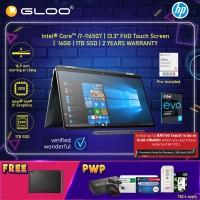 NEW HP SPECTRE X360 Laptop 13-AW2100TU Intel®️ Evo™️ Platform Processor (i7-1165G7, 1TB SSD, 16GB, Intel Iris Xe Graphics, W10H) - Poseidon Blue [FREE] HP Sleeve+ HP Active Pen + Microsoft Office Home and Student (Redeem Grab/Touch & Go: 1/2-30/4*)