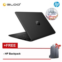 "NEW HP 14-ck0099TU 14"" HD Laptop (i3-7020U, 1TB, 4GB, Intel® HD Graphics 620, W10) - Black [FREE] HP Backpack [Redeem: RM50 Touch n Go eWallet credit - 17 Aug - 30 Sept 2019*]"