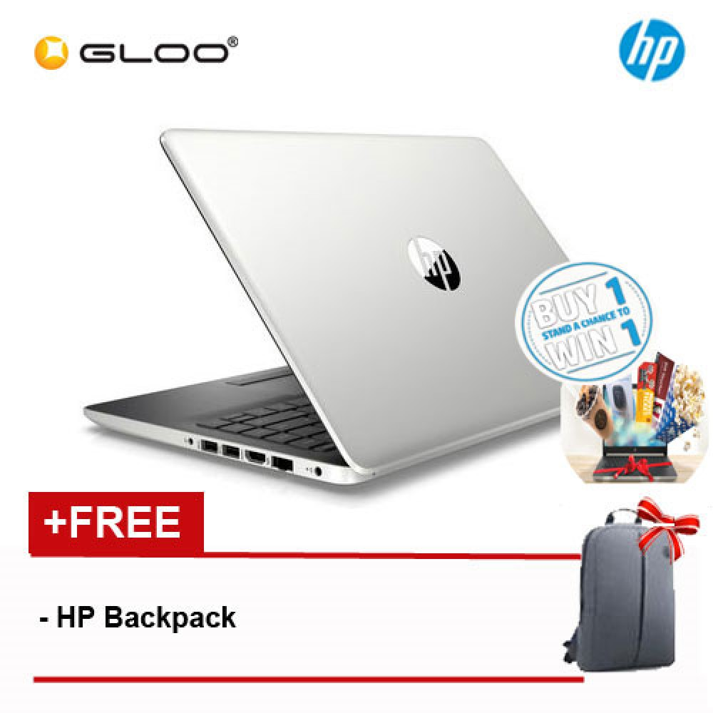 HP 14s-cf1024TX 14' FHD Notebook (i5-8265U, 1TB, 4GB, AMD Radeon 530 2GB ,W10) - Gold [FREE] HP Backpack (Buy 1 & Stand a Chance to Win*)