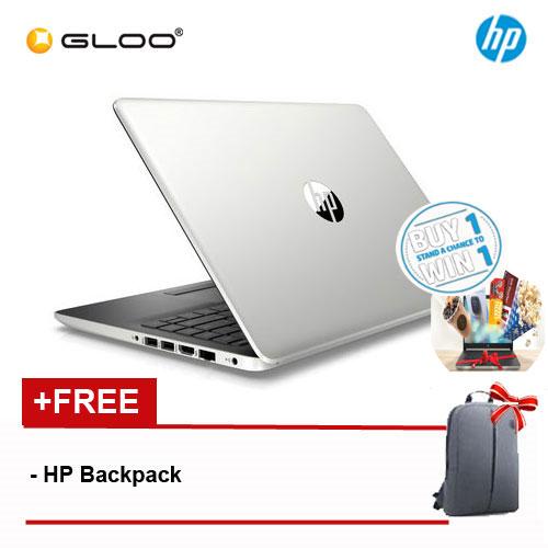"HP 14s-cf1026TX 14"" FHD Notebook (i7-8565U, 1TB, 4GB, AMD Radeon 530 2GB, W10) - Silver [FREE] HP Backpack"