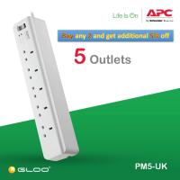 APC Essential SurgeArrest 5 outlets 230V UK PM5-UK - White