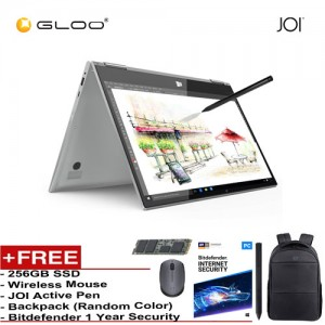 "JOI Book Touch 300 SV-CL300 Cel N4000,4+32GB, 13.3"" FHD, W10 Home, Silver {Free 256GB SSD + JOI Active Pen Pro 300 + Backpack (Random color) + Bitdefender 1Yr + Wireless Mouse}"