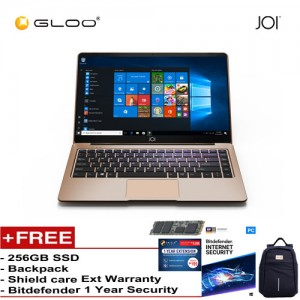 "JOI Book 150 – AD-L150G Cel N4100, 4+32GB, 14"" FHD, W10 Home {Free 256GB SSD + Anti-Theft Backpack - Blue + Bitdefender 1Yr + Shieldcare 1 Yr Extended Warranty }"