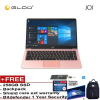 "JOI Book 100 – AD-L100RG Cel N3450, 4+32GB, 14"" FHD, W10 Home, Rose Gold {Free 256GB SSD + Anti-Theft Backpack + Bitdefender 1Yr + Shieldcare 1 Yr Extended Warranty}"