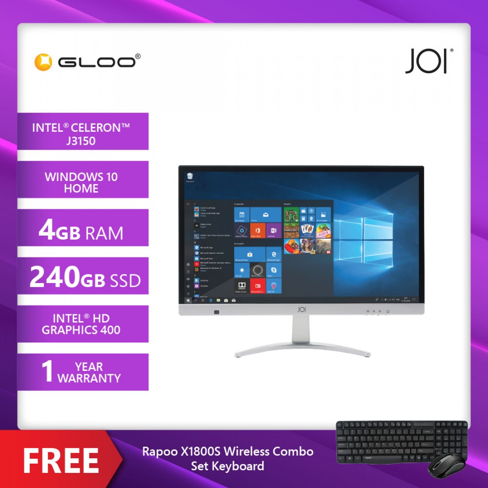 JOI AIO 100 {Free Rapoo X1800S Wireless Combo Set Keyboard }