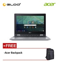 "Acer Chromebook Spin 11 CP311-1H-C9K5 11.6"" HD 2 in 1 Laptop (Celeron N3450, 32GB4 GB, Intel HD Graphics 500, Chrome OS) - Silver [FREE] Acer Backpack [Use CHROME50 to get RM50 off during checkout]"