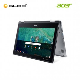 """Acer Chromebook Spin 11 CP311-1H-C9K5 11.6"""" HD 2 in 1 Laptop (Celeron N3450, 32GB4 GB, Intel HD Graphics 500, Chrome OS) - Silver [FREE] Acer Backpack [Use CHROME50 to get RM50 off during checkout]"""
