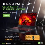 "Acer AN515-55-79VX Notebook (Nitro 5,i7-10750H,8GB,512G SSD,NV RTX3060 6GB,15.6""FHD,W10,Black Red) + DeathAdder Essential Mouseworth RM169"