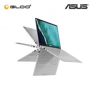 """Asus Chromebook Flip C434T-AAI0224 14"""" FHD 2 in 1 Laptop (m3-8100Y, 64GB, 4GB, Chrome OS) - Silver [Use CHROME50 to get RM50 off during checkout]"""