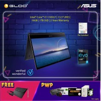 "Asus UX371E-AHL283TS Intel®️ Evo™️ Platform Processor Laptop (i7-1165G7,16GB,1TB SSD,Iris X Graphics,13.3"" UHD,W10, Jade Blk) [FREE] Asus Sleeve + Asus Stylus pen + Audio Jack Adapter"