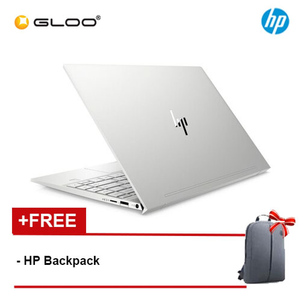 "NEW HP ENVY 13-aq0021TX 13.3"" FHD Touch Screen Laptop (i5-8265U, 256GB SSD, 8GB, NVIDIA MX250 2GB, W10) -Silver [FREE] HP Backpack [Redeem MS Office 365 Personal worth RM269 - 12 Oct - 30 Nov 2019*]"
