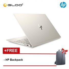 "NEW HP ENVY 13-aq0023TX 13.3"" FHD Laptop (i7-8565U, 512GB SSD, 16GB, NVIDIA MX250 2GB, W10) - Pale Gold [FREE] HP Backpack [Redeem MS Office 365 Personal worth RM499 - 20 Dec 2019 - 15 Feb 2020*]"