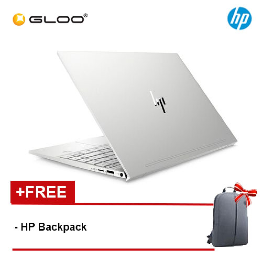 "NEW HP ENVY 13-aq0020TX 13.3"" FHD Laptop (i5-8265U, 256GB SSD, 8GB, NVIDIA MX250 2GB, W10) -Silver [FREE] HP Backpack [Redeem MS Office 365 Personal worth RM499 - 20 Dec 2019 - 15 Feb 2020*]"