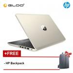 """NEW HP 14s-dk0000AX 14"""" HD Laptop (Ryzen3-3200U, 1TB, 4GB, AMD Radeon 530 2GB, W10) - Gold [FREE] HP Backpack"""