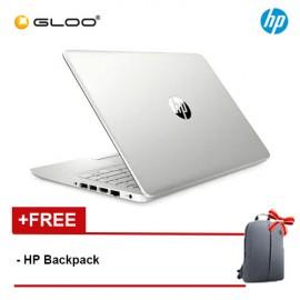 "NEW HP 14s-dk0001AX 14"" HD Laptop (Ryzen3-3200U, 1TB, 4GB, AMD Radeon 530 2GB, W10) - Silver [FREE] HP Backpack + Complimentary Premium Merchandise Gift (C-Shaped Handle, Inverted Umbrella)*"